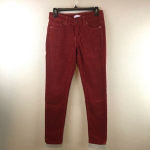 Nordstrom's Blue Essence Red Corduroy Skinny Pants